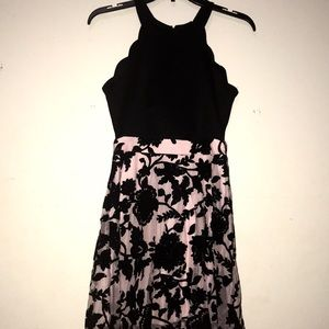 Pink/black sparkly floral dress
